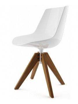 Chaise Mdf Italia Flow chair - 5 razze regolabile con ruote design ...