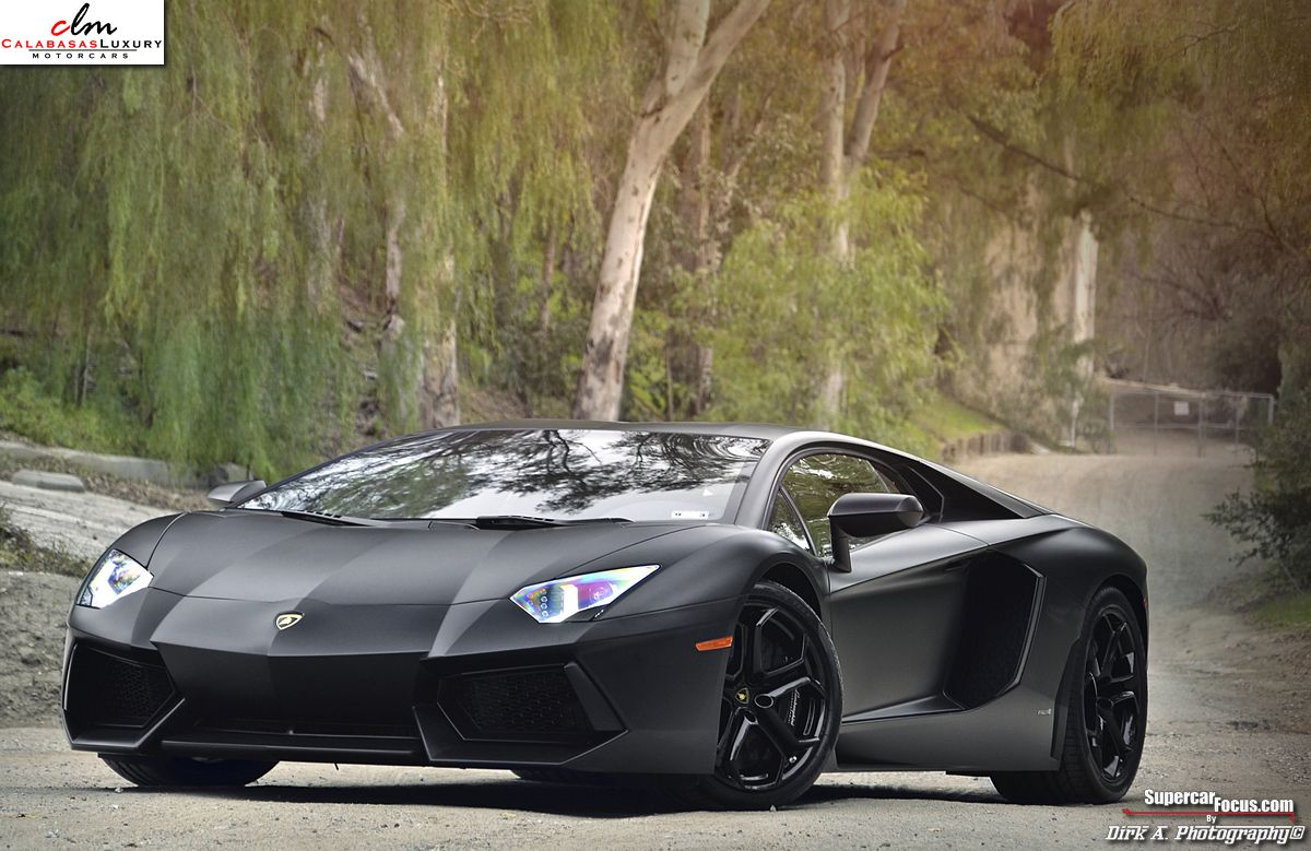 Lamborghini Aventador Lp700 4 Black For Sale Matte Black