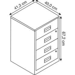 Photo of Bisley Home stand container silver 4 drawers