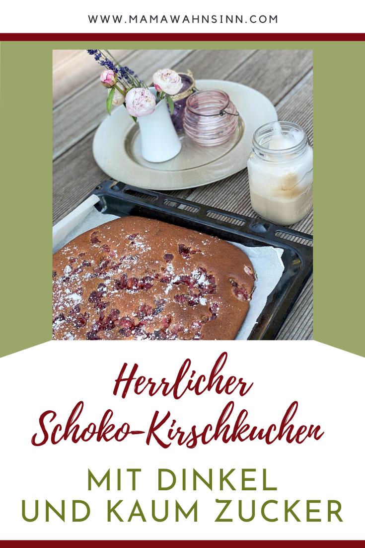 Schoko Kirschkuchen Mit Dinkel Und Traubenzucker Mamawahnsinn In 2020 Kirschkuchen Lebensmittel Essen Kirschen