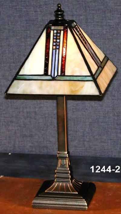 Paul sahlin tiffany 1244 2 mission style mini tiffany table lamp pst paul sahlin tiffany 1244 2 mission style mini tiffany table lamp pst 1244 aloadofball Images