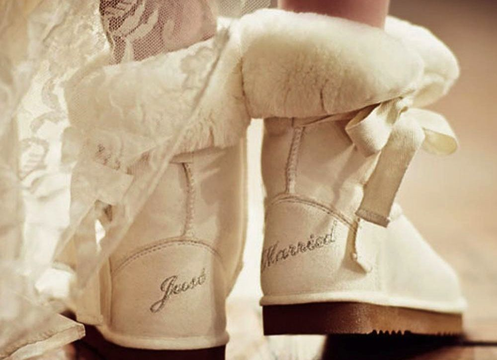 22000d5b75f Ivory Ugg Boots with Just Married embroidery | Fashion taste ...