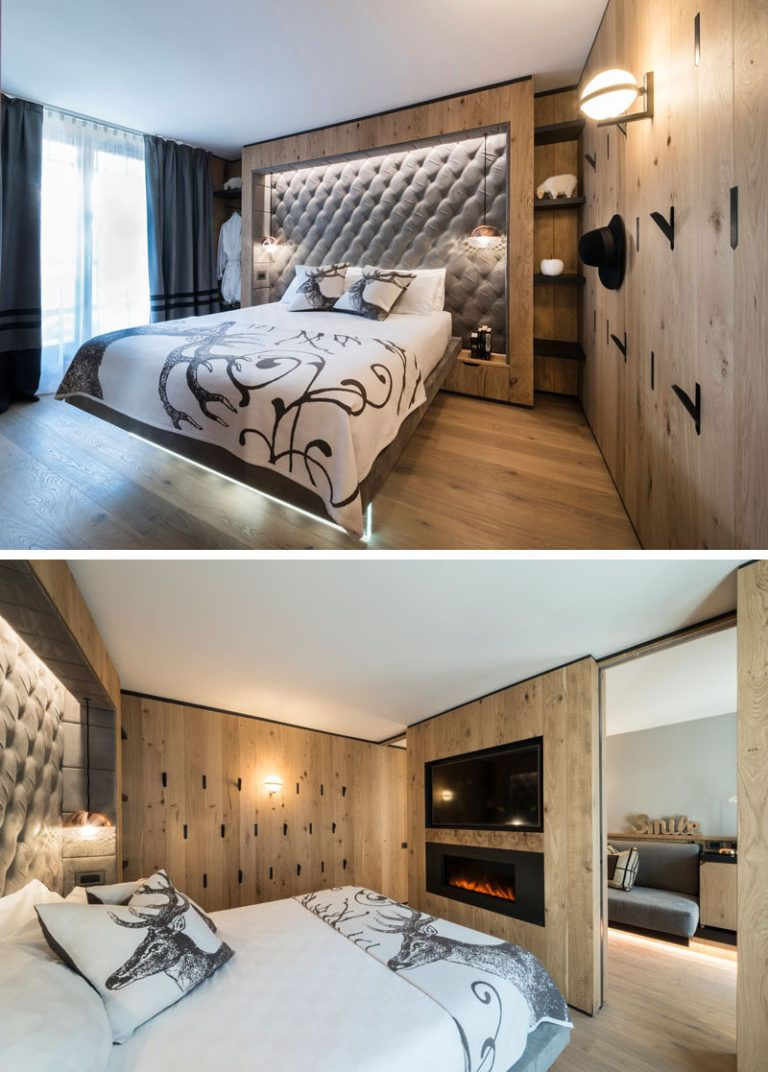 Bedroom Design Idea This Hotel Has The Headboards Built Into The Walls Modern Hotel Room Modern Bedroom Decor Bedroom Design