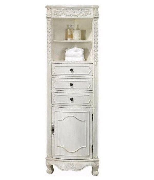 29+ White bathroom corner cabinets type