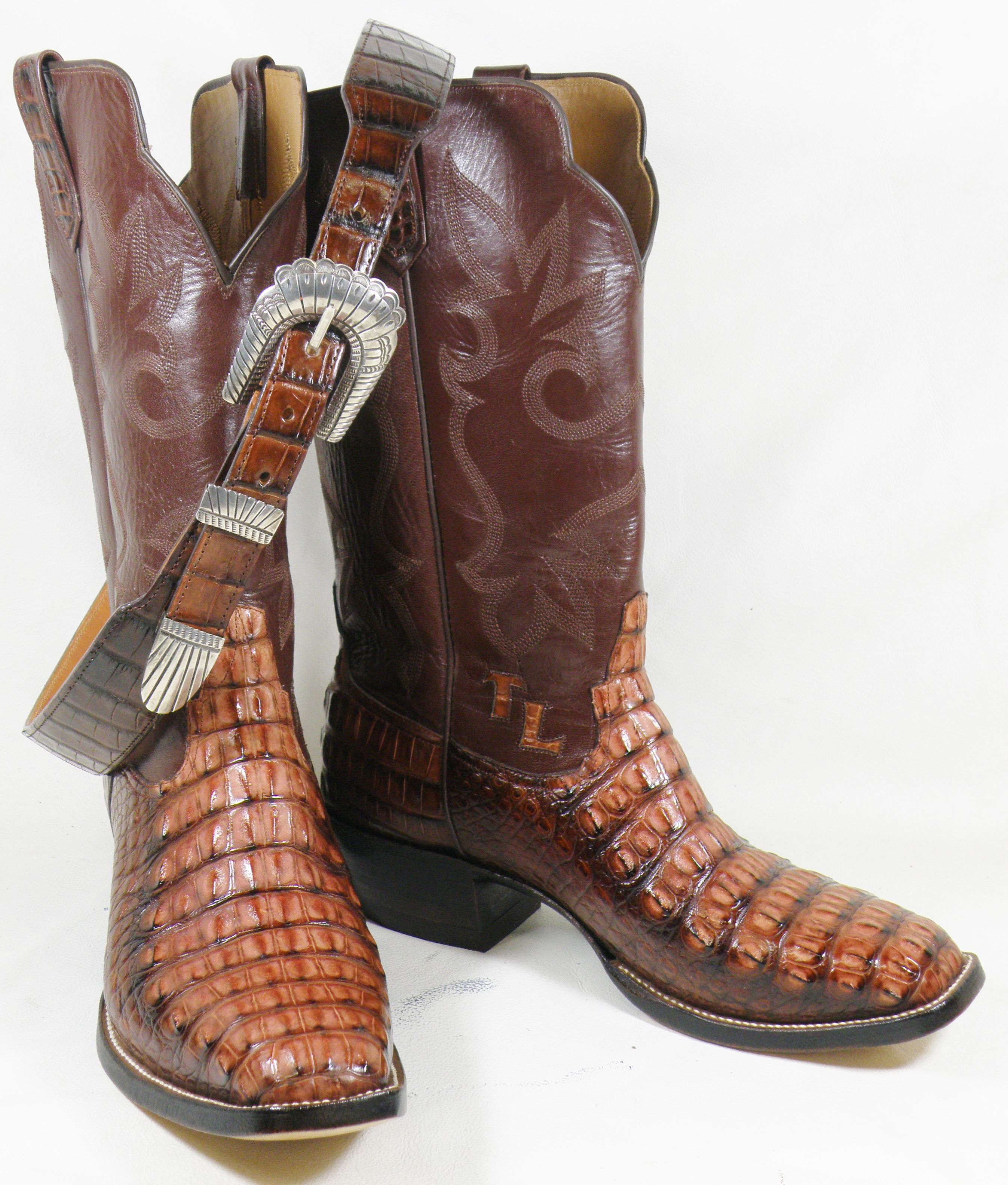 517f0cc5812 Redline Horned Back American Alligator custom cowboy boots. A very ...