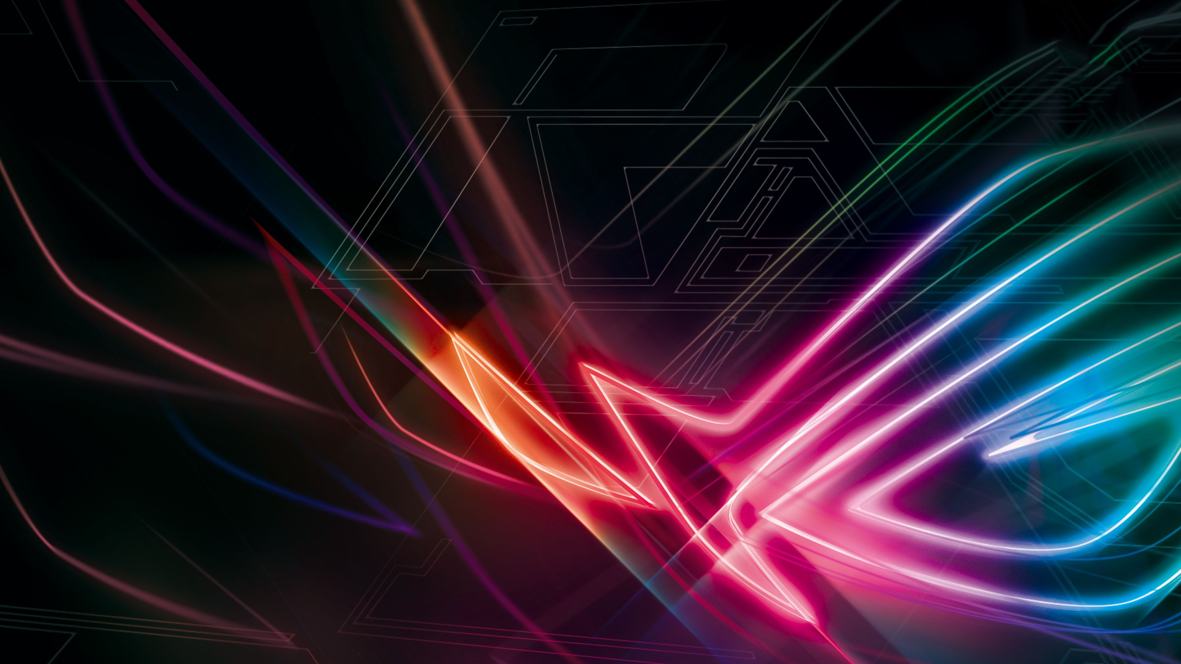 Download Republic Of Games Strix 4k Rog Asus Wallpaper Rgb And Share It With More People Who Need It Di 2020 Gambar