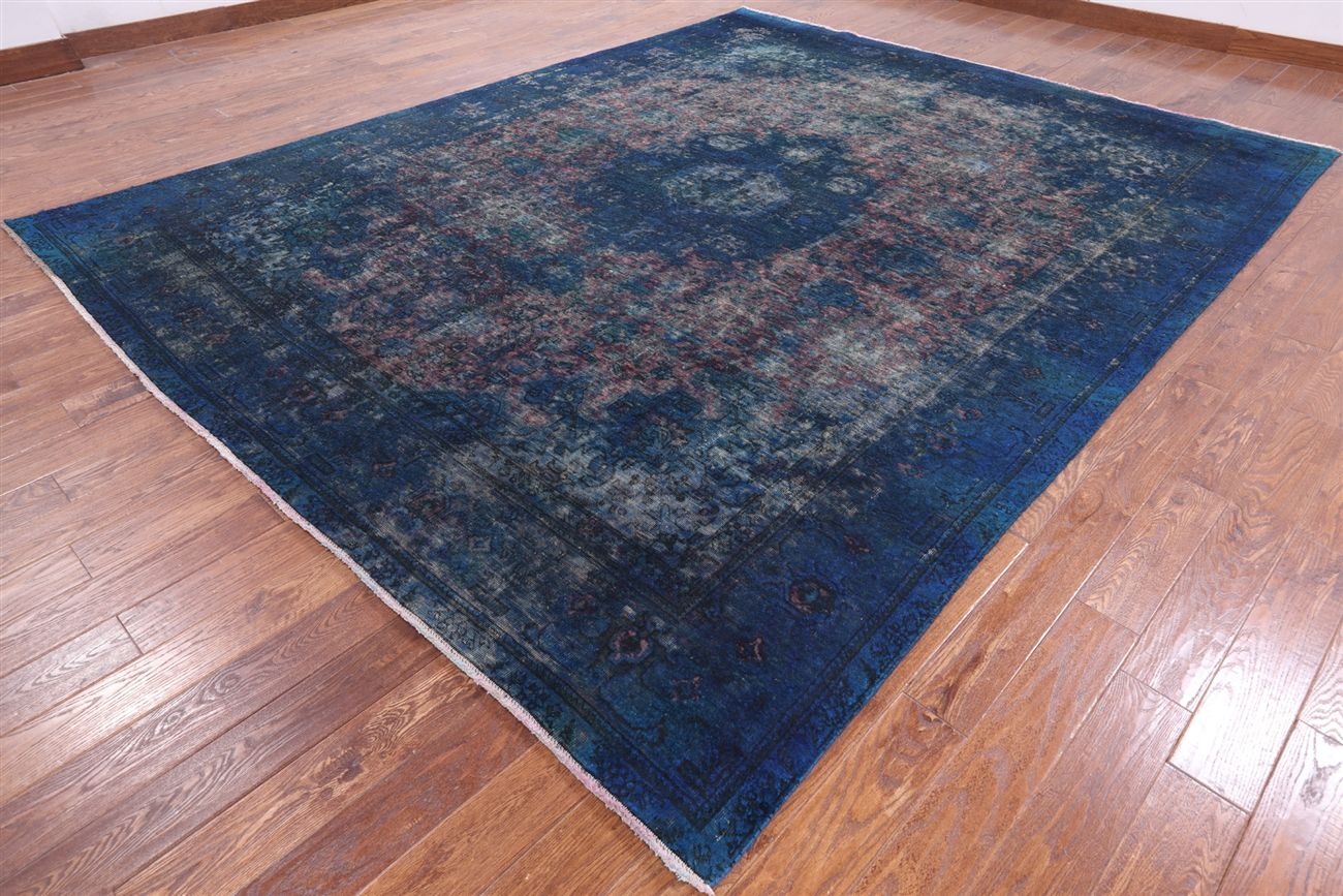 Persian Overdyed Hand Knotted Area Rug 10 X 12 Q2390 Rugs Area Rugs Overdyed