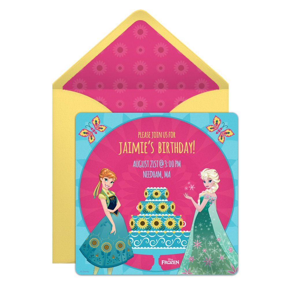 Frozen Fever Online Invitation Frozen Fever Pinterest Birthday