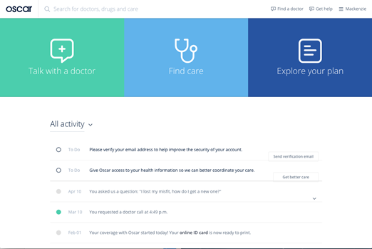Oscar Health A New Kind Of Health Insurance Company Powered By