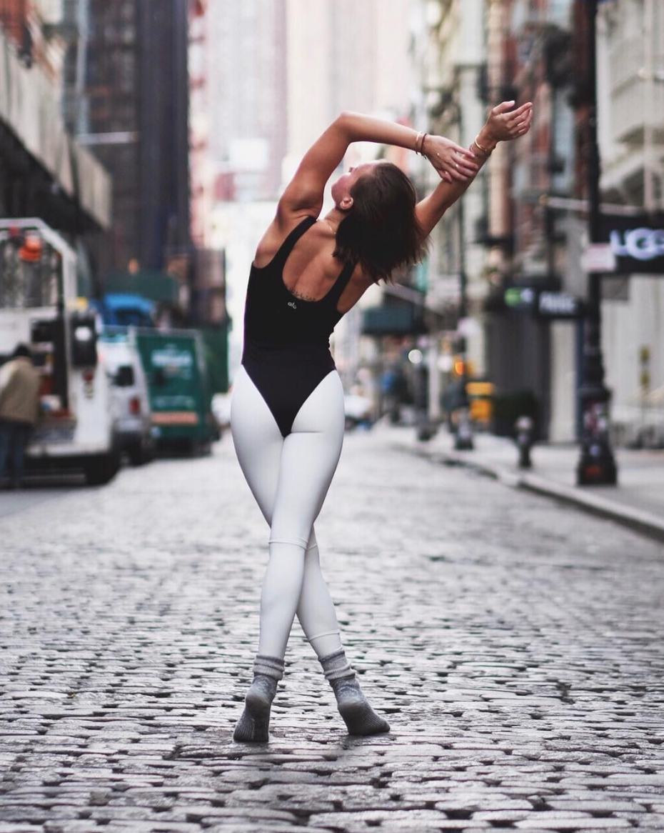 9cef0c367d Meet the Goddess Leotard. Pair this @aloyoga exclusive with high waist  leggings for a perfect studio-to-street look #aloyoga