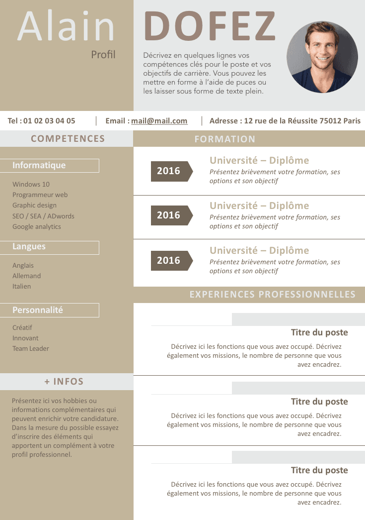 cv clean et moderne cv pinterest design resume