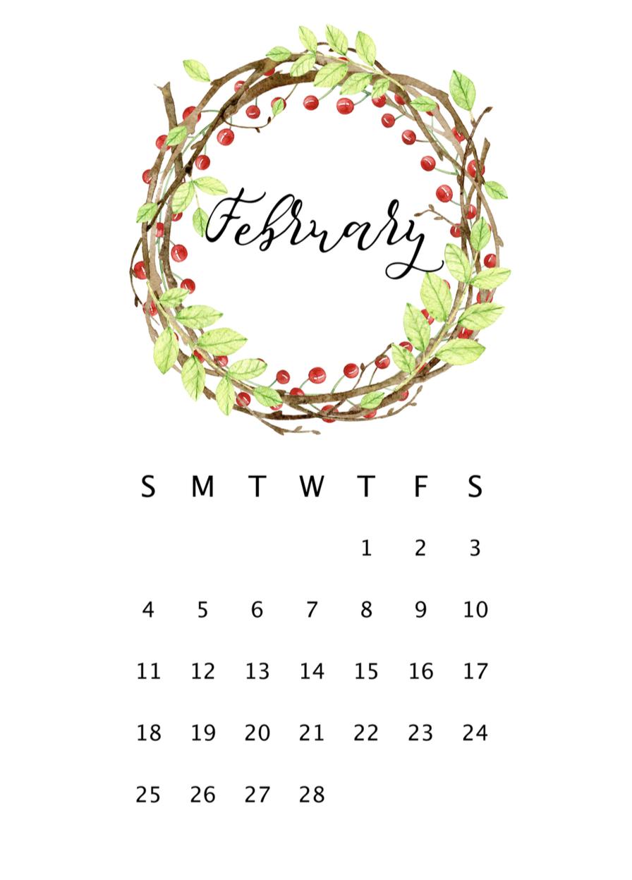 2018 printable calendar printable calendars feather print and