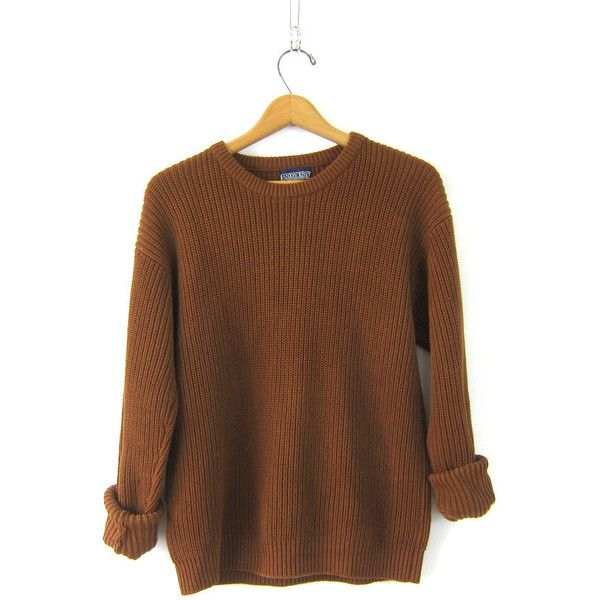 90s Plain Rust Brown Ribbed Shirt Baggy Long Sleeve Top Basic ...