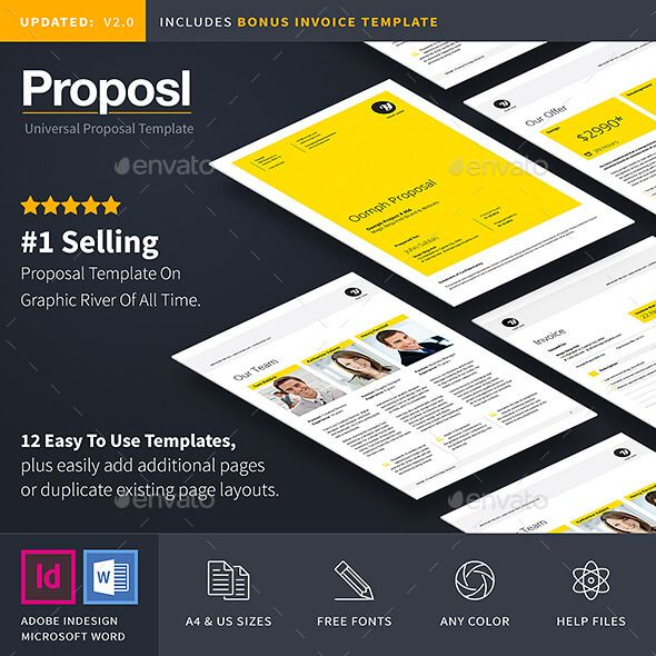 Proposal Template  Proposal Templates Project Proposal And Adobe