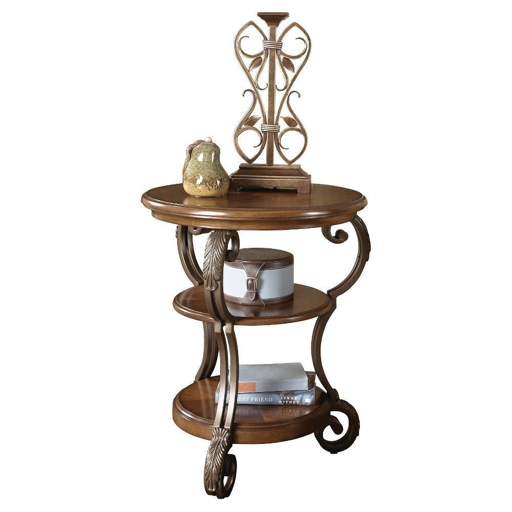 Nestor Chairside End Table - Medium Brown - Signature Design