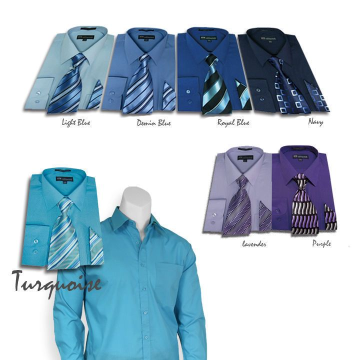 6af1b22da Men's Milano Moda Dress Shirt with Matching Tie and Handkerchief Set  sty-201 #MilanoModa