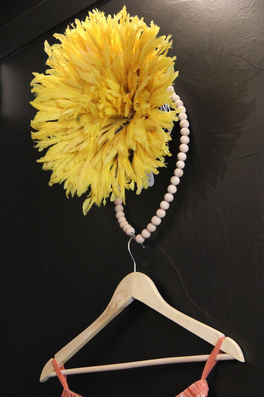 Mini Yellow Bamileke Juju Hat | Juju hat, Storage and Interiors