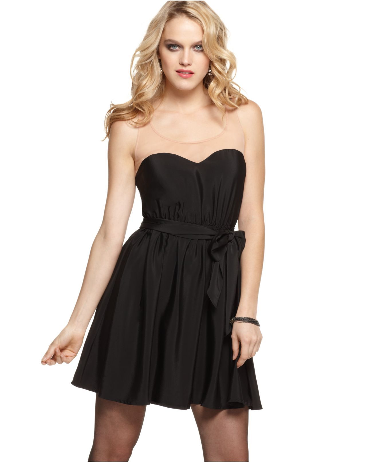 GUESS? Dress, Tani Fluid Strapless Little Black Dress - Juniors ...