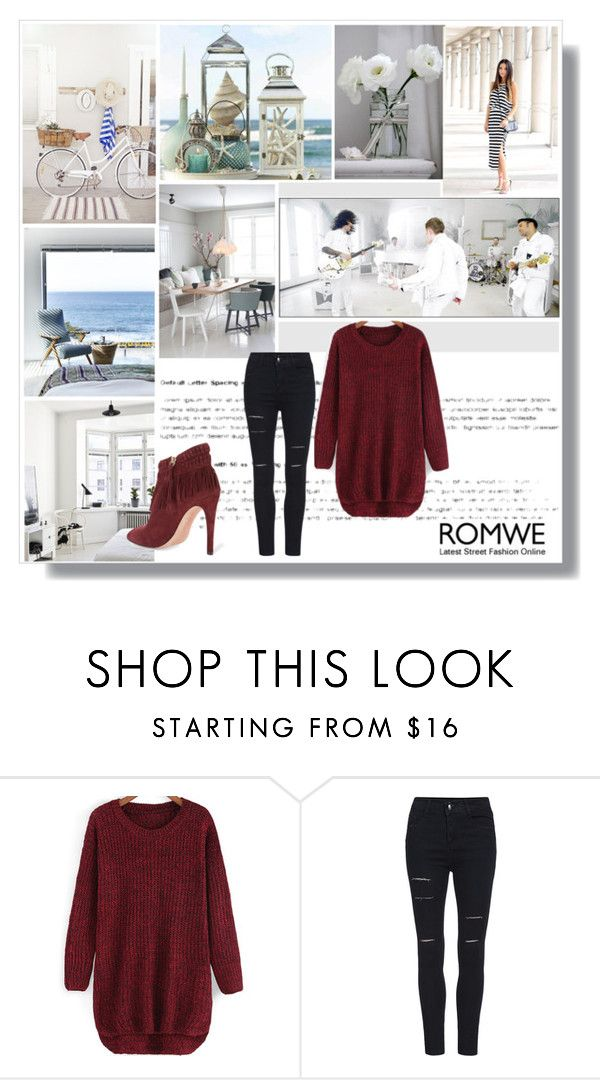 """""""Romwe Contest_Red Sweater"""" by ceca-orvel ❤ liked on Polyvore featuring Rebecca Minkoff and romwe"""
