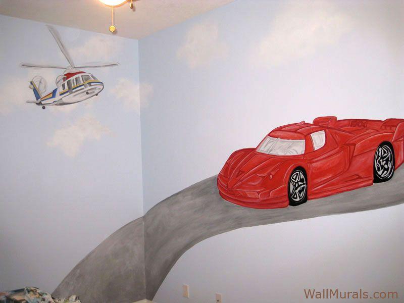 Ferrari Wall Mural Transportation Themed Wall Murals Pinterest