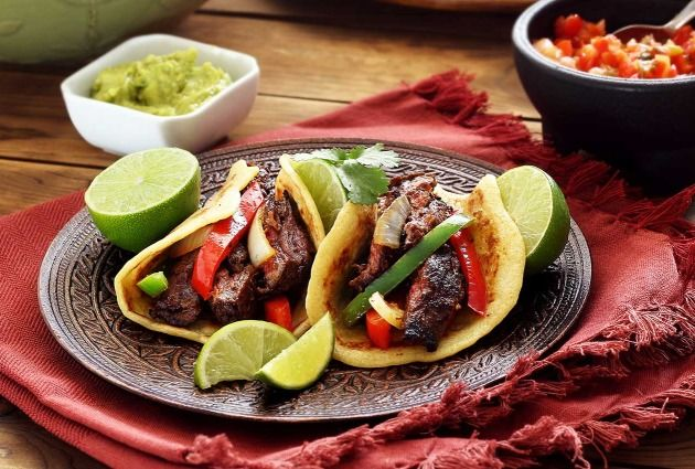 Easy Steak Fajitas. Steak...can use flank steak or whatever preference. Spray skillet with olive oil or coconut oil. Season the beef with salt, pepper, garlic salt, etc , while cooking.