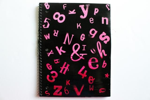 Letter Sticker Ombre Notebook DIY