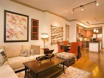 Living Room & Dining Room at the Gables Villa Rosa Apartments ...