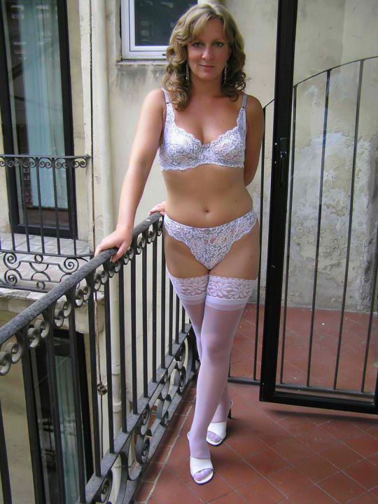 wife Hot lingerie mature