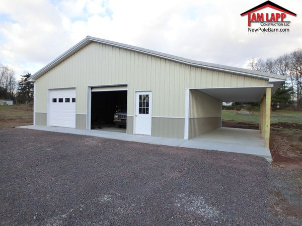 Project Overview 10 X36 Open Porch 2 9 Wx8 H Garage Doors W Windows 1 9 Lite Entry Door Building A Pole Barn Garage Doors Pole Barn Garage