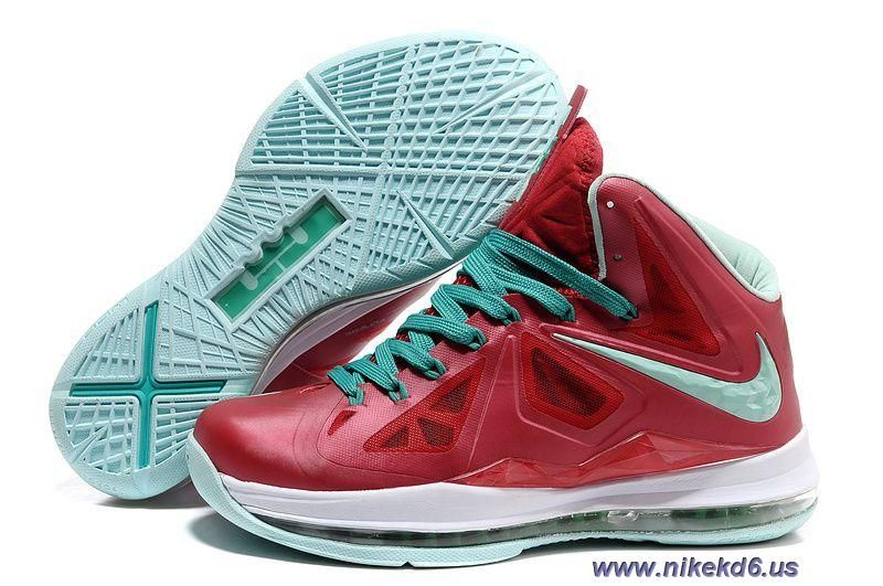 new style 093ac 7932f Varsity Red Fresh Green-White Nike Lebron X 10 Sale