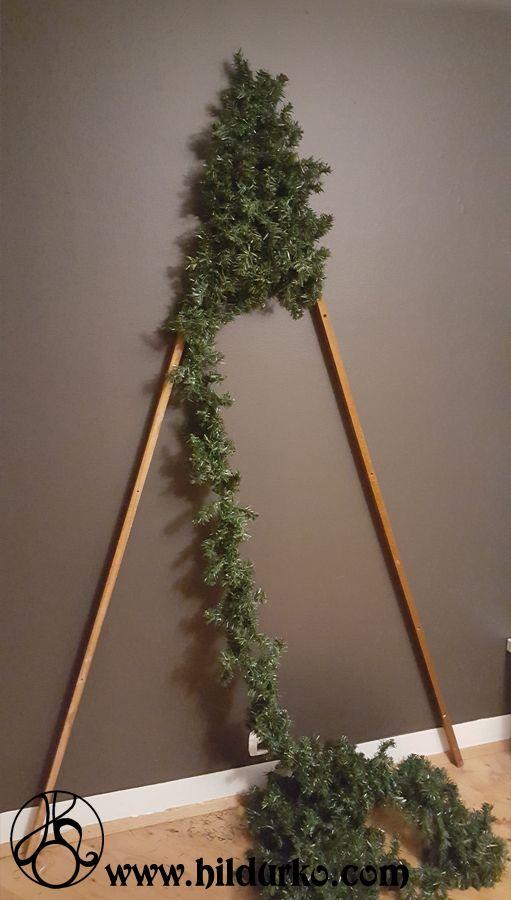 DIY Flat Christmas Tree #xmasdecorations