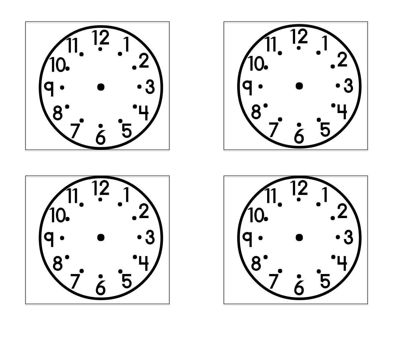 Actividad Hora Relojes
