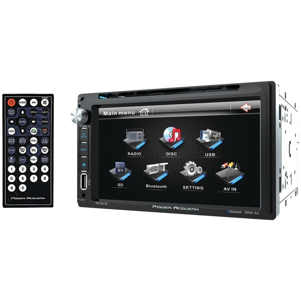 Power Acoustik Pd 651b 6 5 Double Din In Dash Lcd Touchscreen Dvd