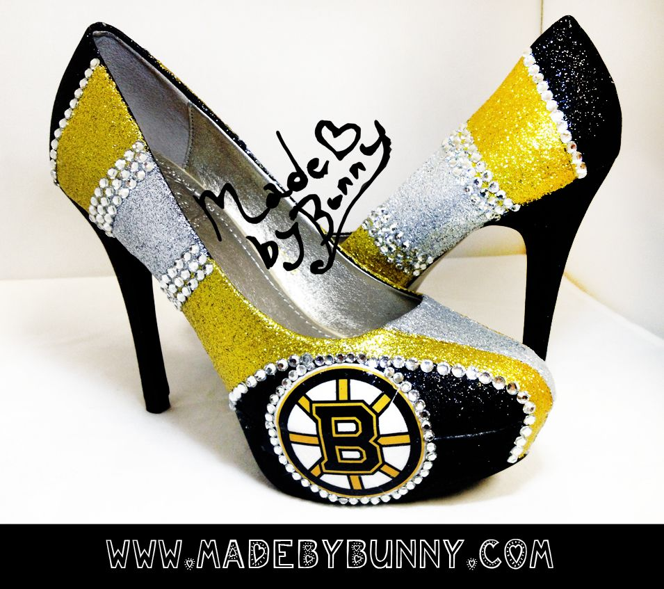 Boston Bruins Heels Www Madebybunny Com Could Probably Make These Myself Heels Stiletto Heels Shoe Lover