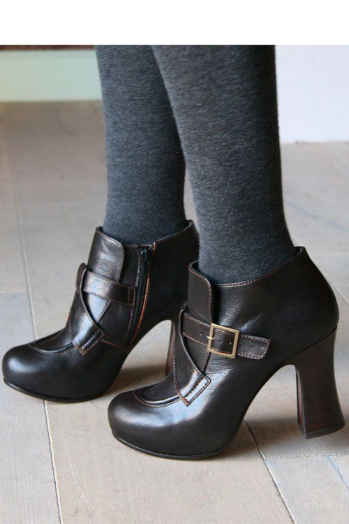 Love the buckles and chunky heals