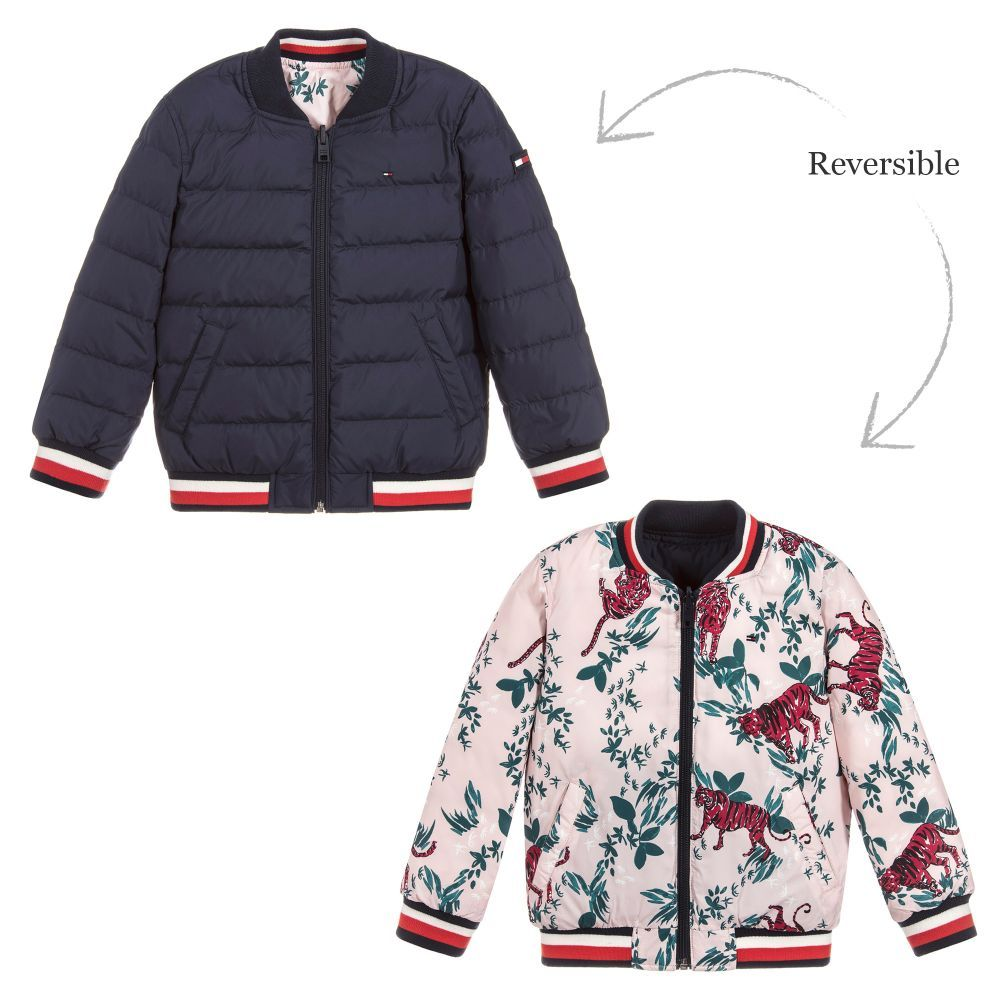 Girls Reversible Down Jacket for Girl by Tommy Hilfiger