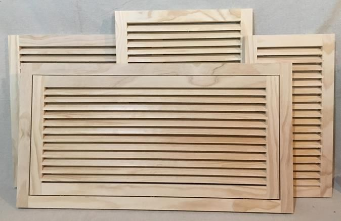 Millwork Wood Grille : Available sizes of wood return air filter grilles and