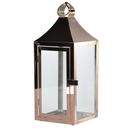 Small Copper Finish Metal Lantern