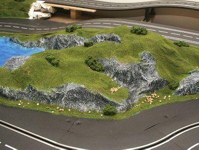 Building slot car scenery Slot cars, Slot car racing, Slot