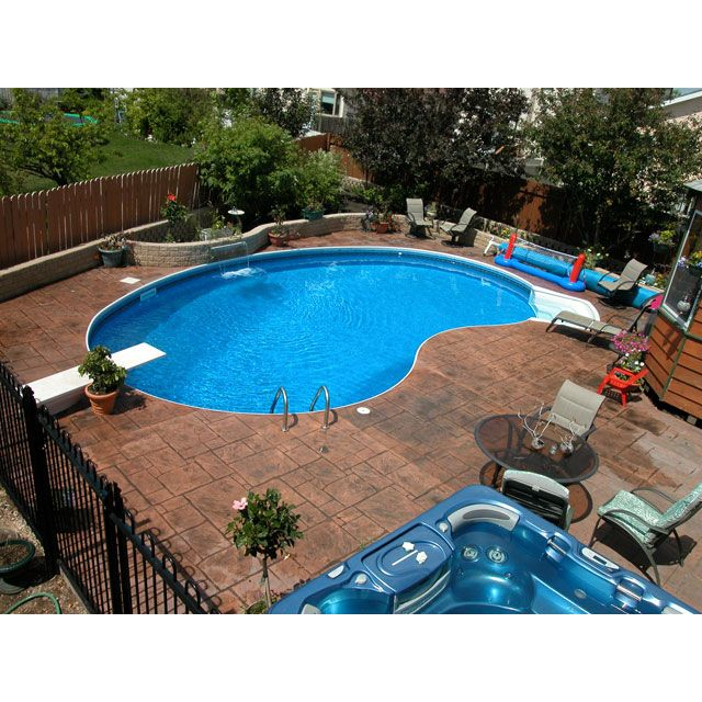 14 Comfortable And Modern Backyard Pool Ideas: 16 X 32 Ft Crescent Inground Pool Complete Package In 2019