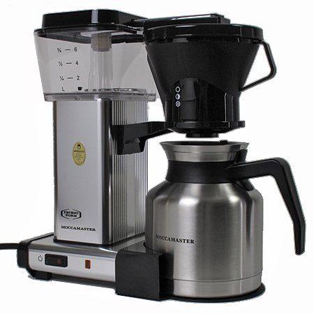 Moccamaster KBTS741 Manual Adjust Drip Stop 32oz Coffee Maker Polished Silver