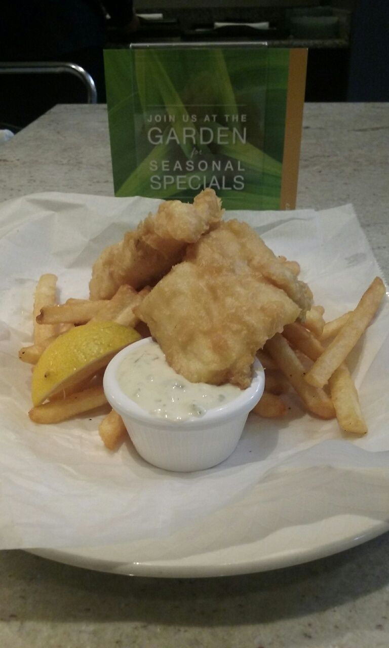 NEW MENU ITEM: Fish & Chips: Beer-battered haddock and chips, hand ...