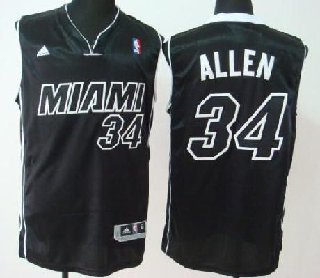 b46111c87 ... Jersey Miami Heat (MIAMI) 34 Ray Allen BlackBlack Numbers Revolution 30  Swingman Basketball Heat 6 LeBron James Red 2013 Christmas ...
