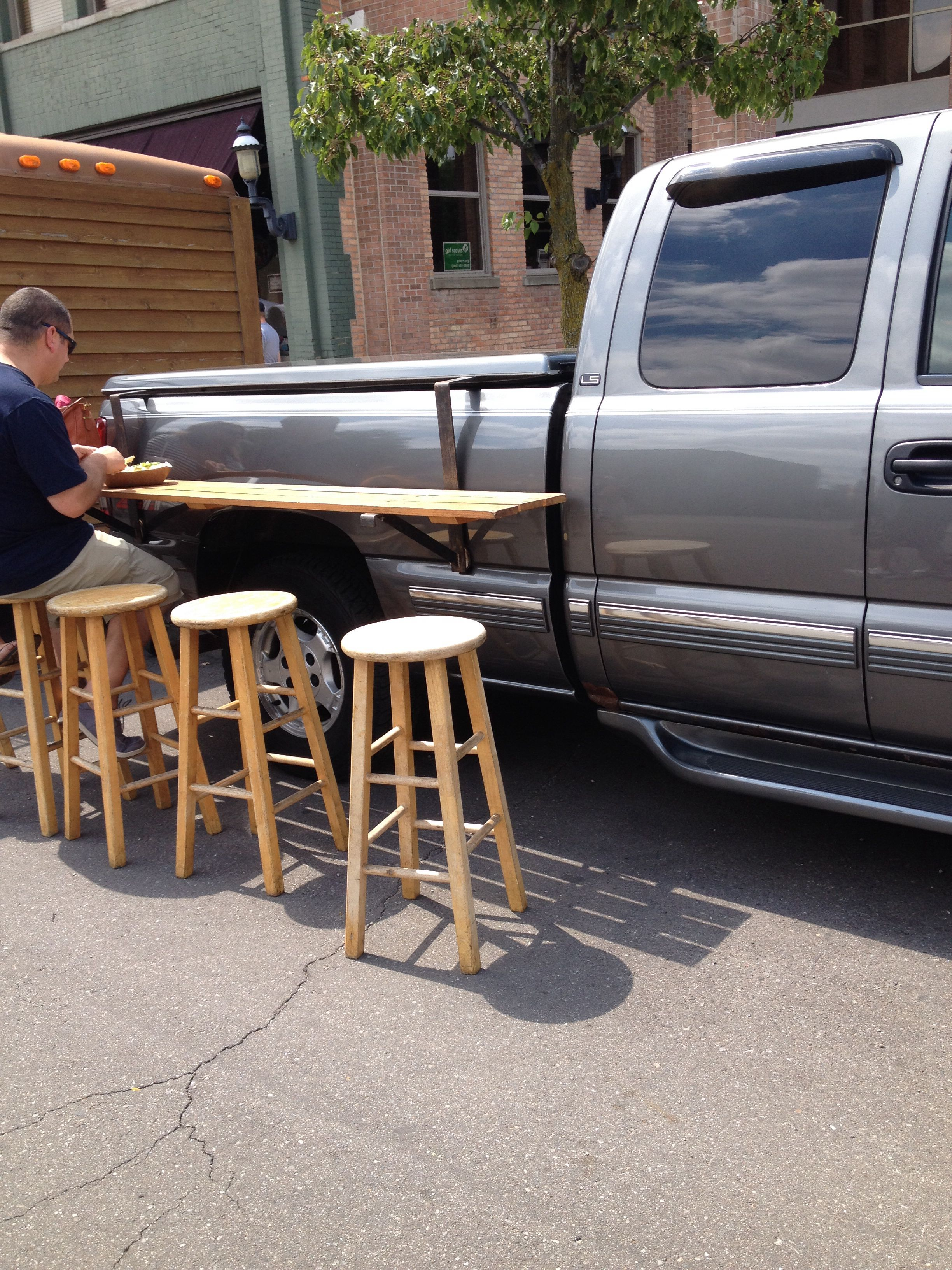 Truck Bed Picnic Table Make From Aluminum Tubing To Make