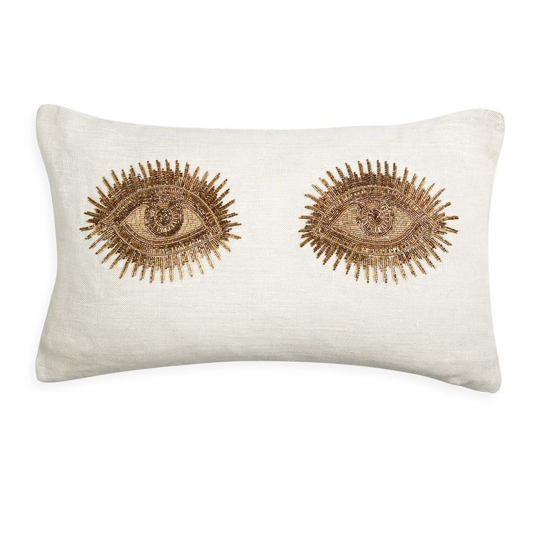 Eyes Throw Pillow Jonathan Adler