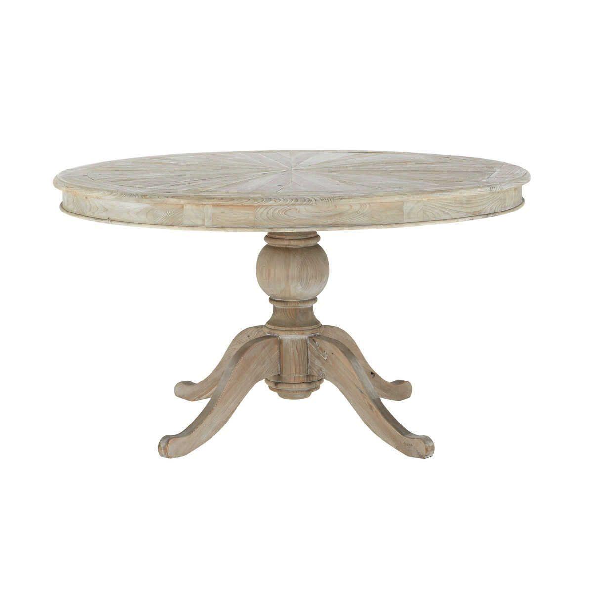 Round wooden dining table D 140cm | Maisons du Monde - - # ...