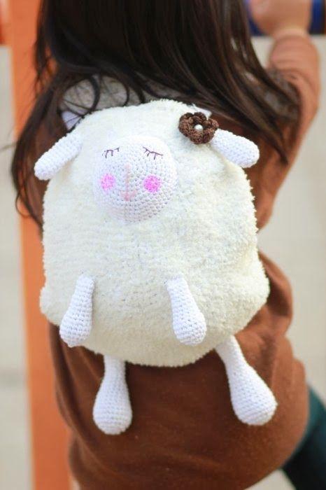 Patrones Crochet: Bolso Oveja de Tricot-Crochet Patron | Amigurumis ...