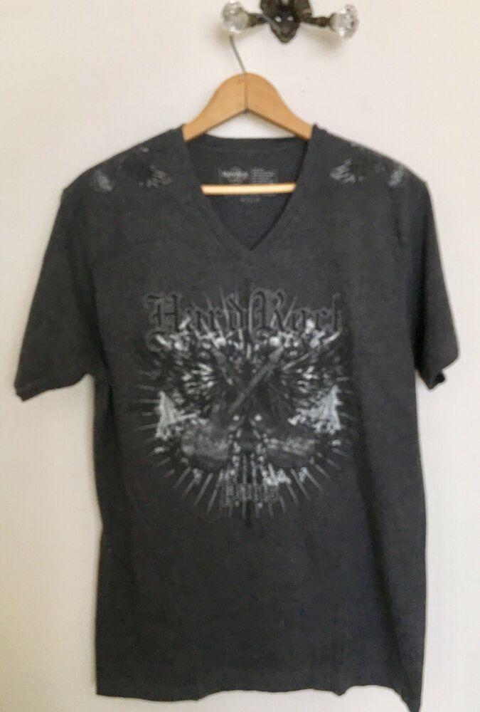 6ad151da Hard Rock Cafe Paris France T-shirt Mens Medium Gray Guitar Tattoo Graphic  | eBay