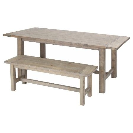 Gilford Dining Table And Bench Collection Wood Threshold