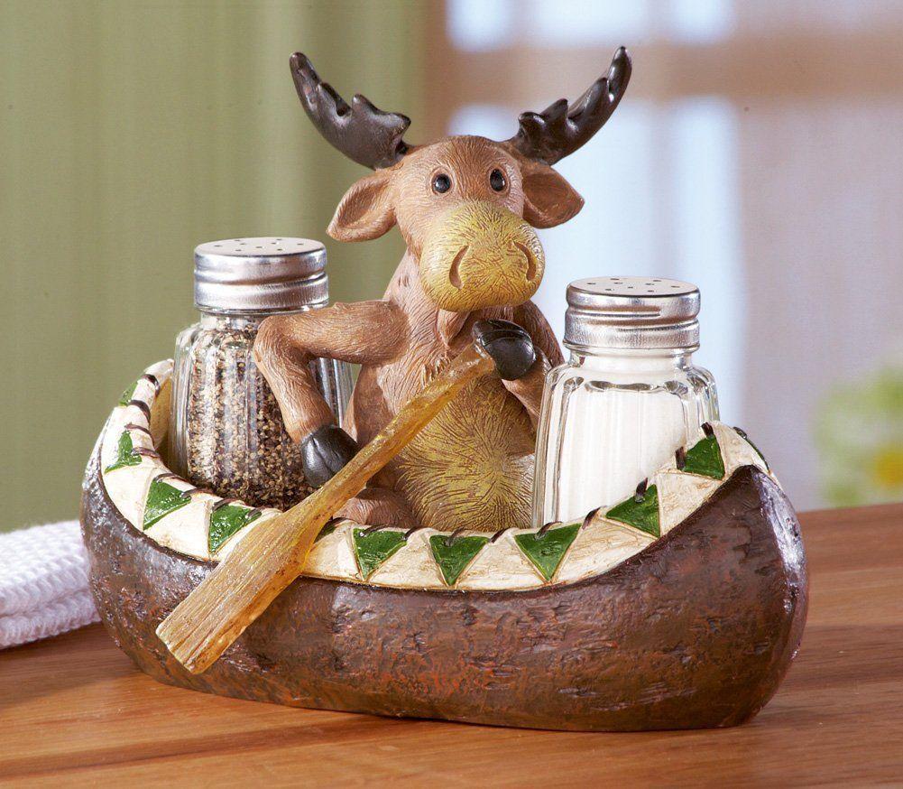 Amazon  Canoe Moose Salt And Pepper Northwoods Accessory Set: Serving  Bowls